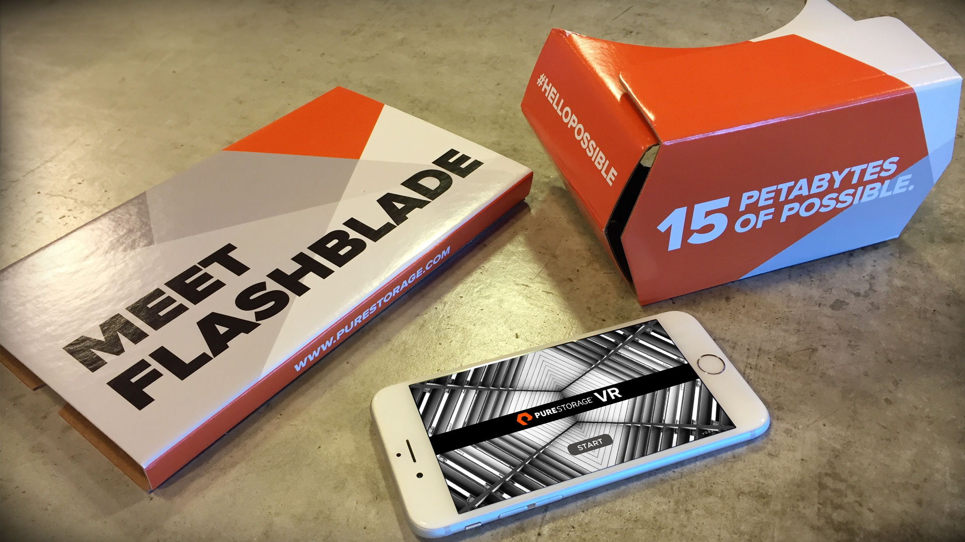 PureStorage VR Mobile App - Google Cardboard