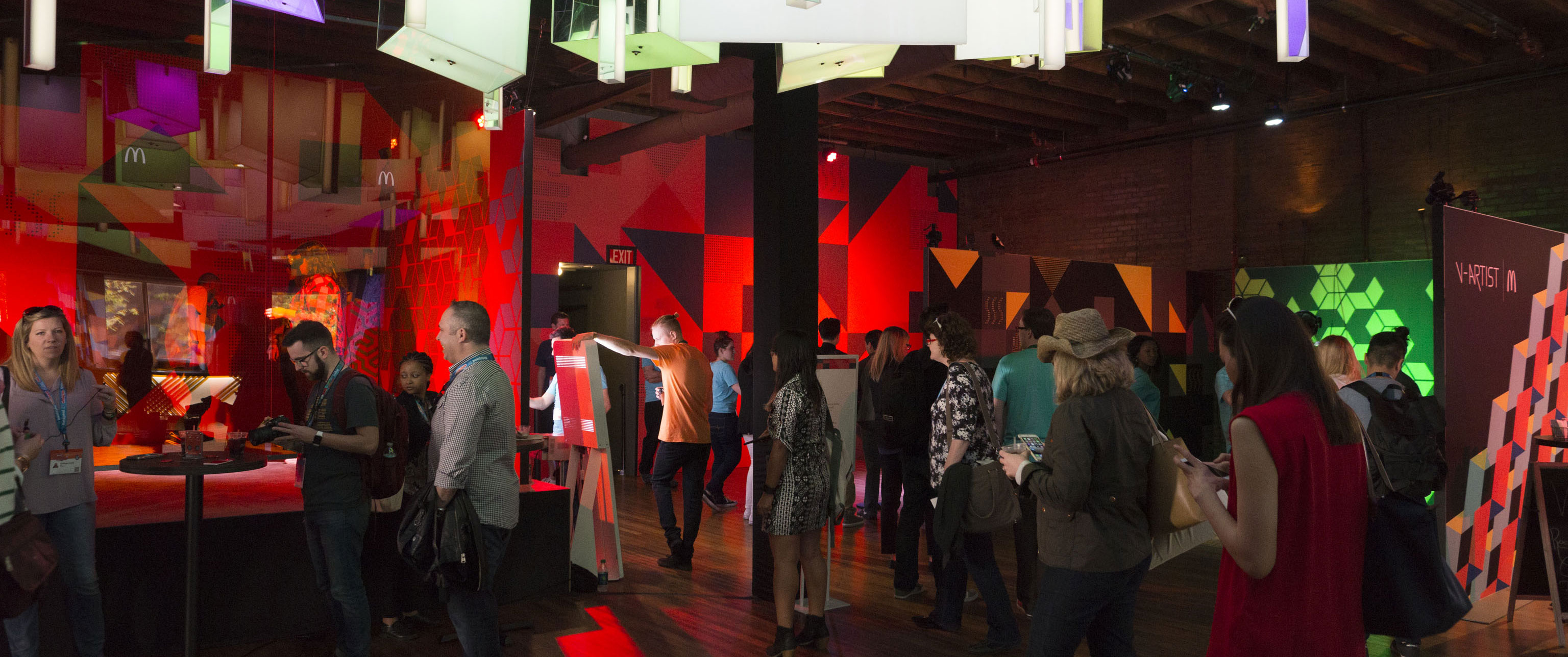 Groove jones worked directly with the McDonald's brand team on the installation and technologies for the V-Artist experience in the McDonald's Loft.