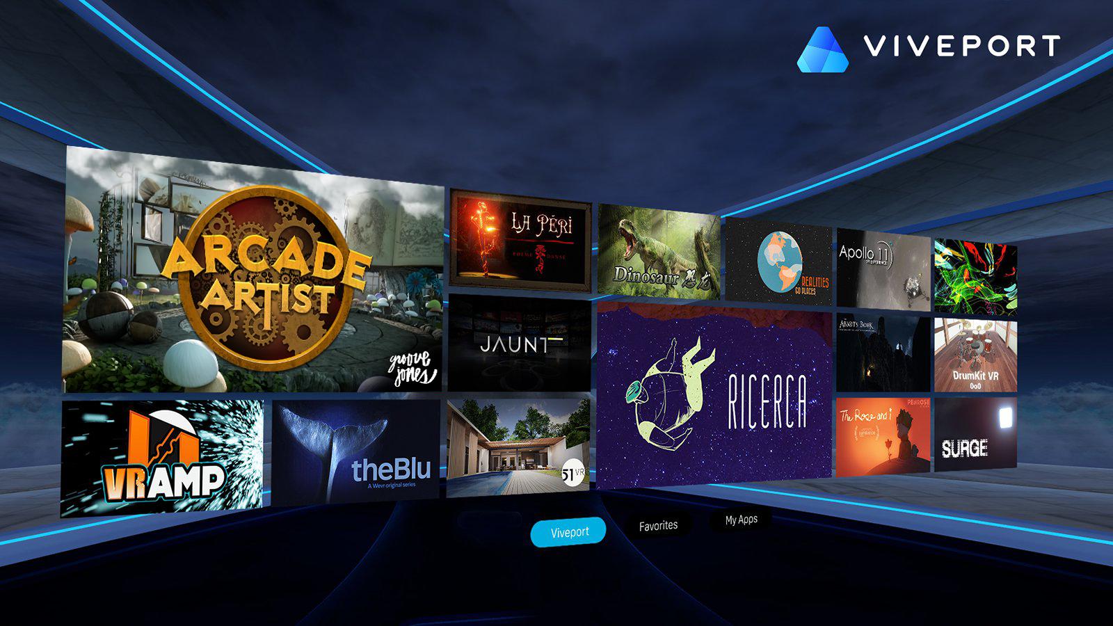 HTC Viveport featuring Arcade Artist