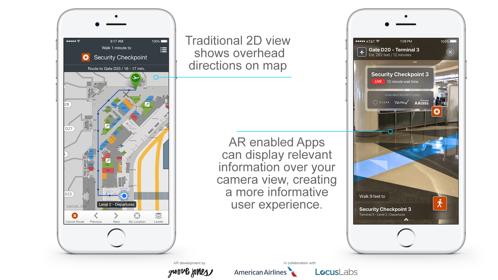 American Airlines ARKit Wayfinding Augmented Reality