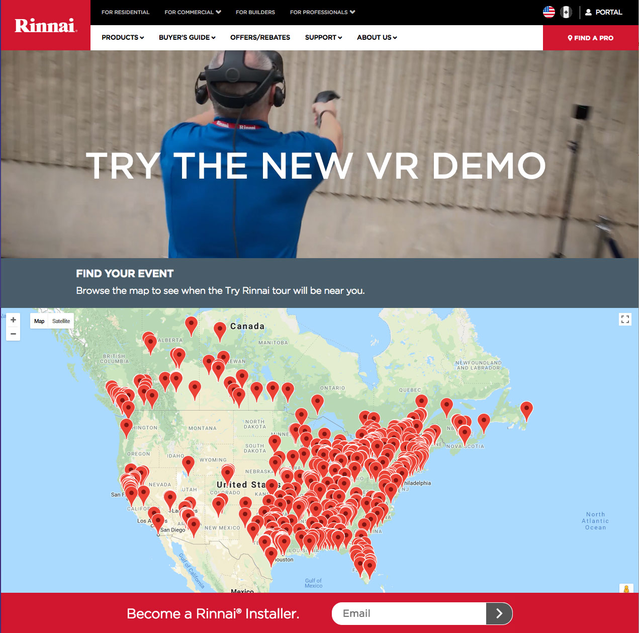 learn how to install a tankless water heater using vr virtual reality rh groovejones com Rinnai Tankless Water Heater Installation Rinnai Tankless Water Heater Installation