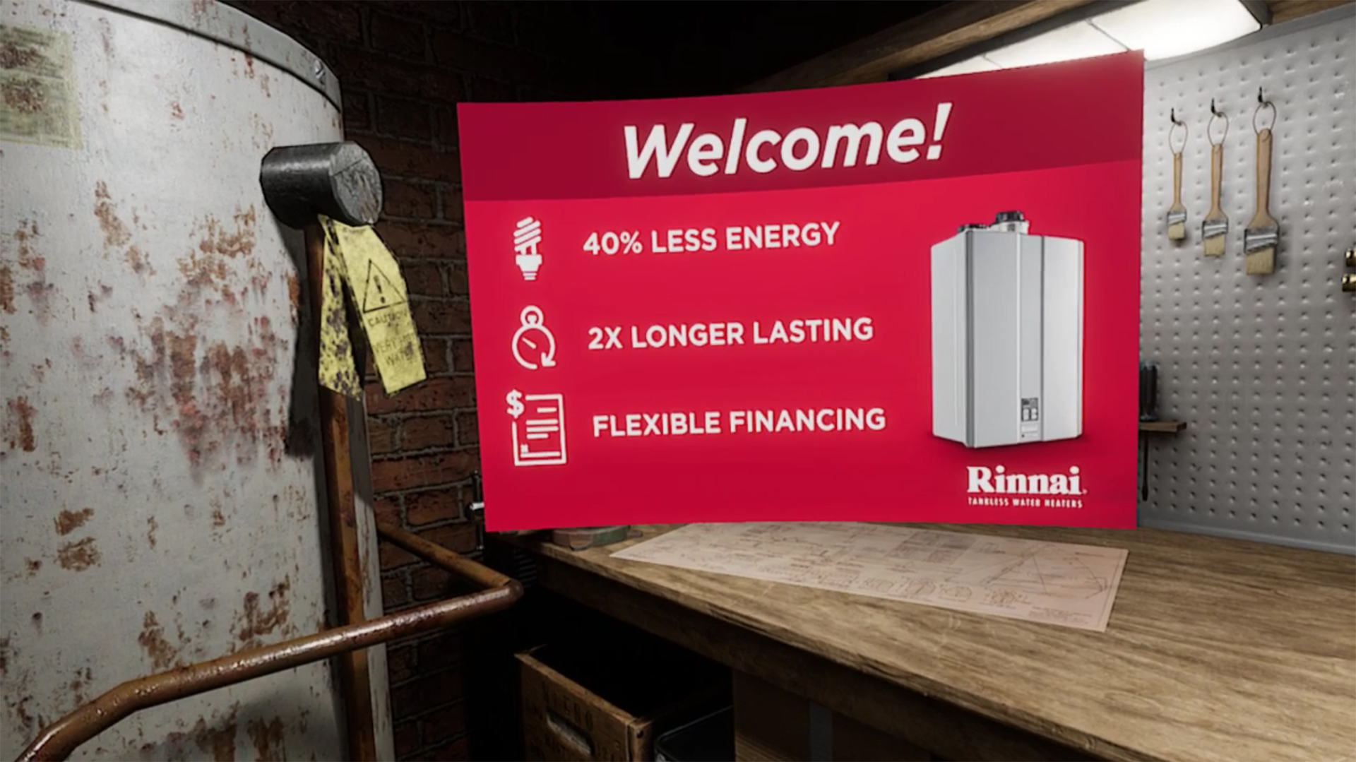 Rinnai Yank The Tank VR Experience - Using VR to Train and Educate by Groove Jones