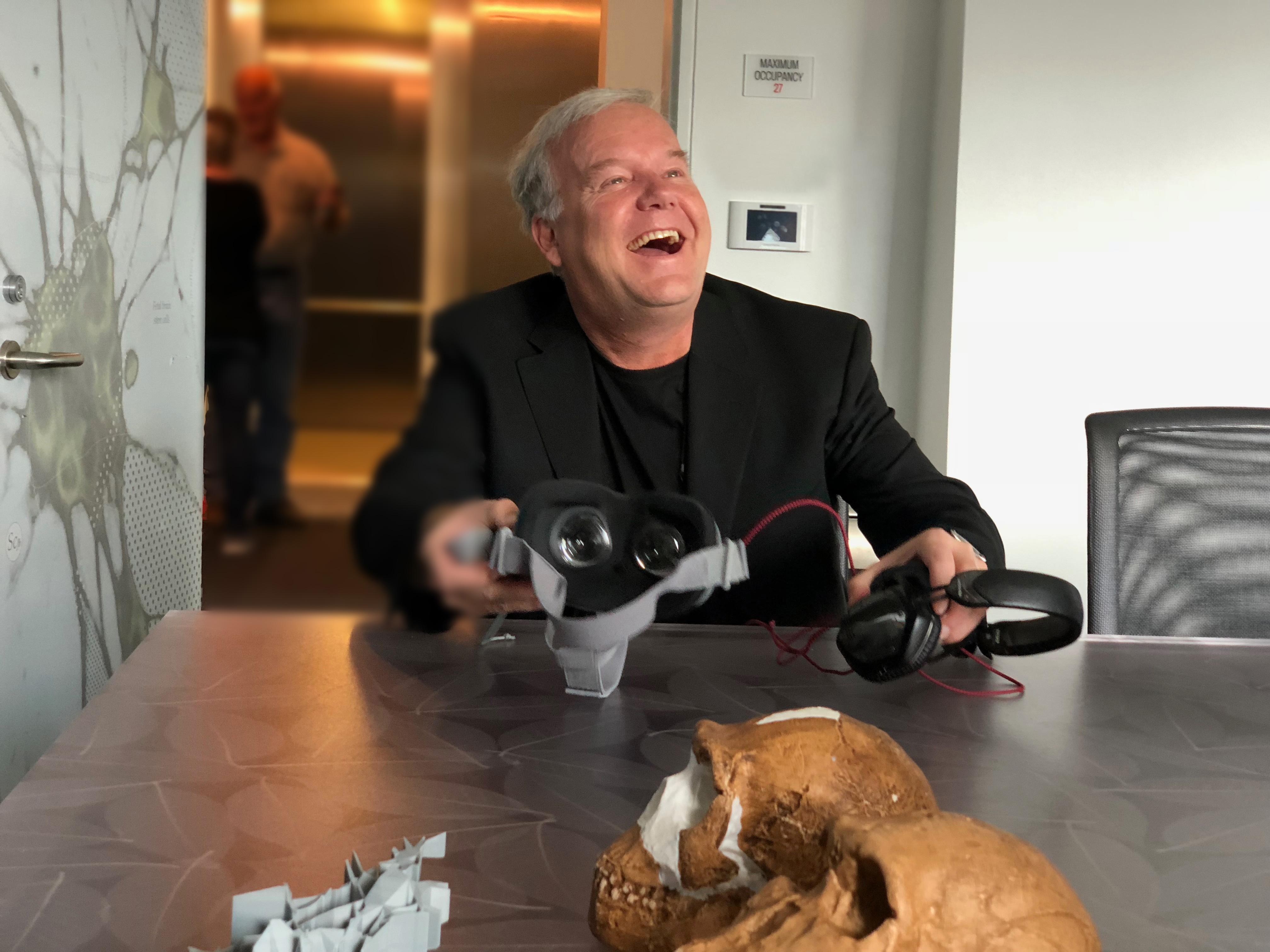 Lee Berger Homo Naledi VR experience