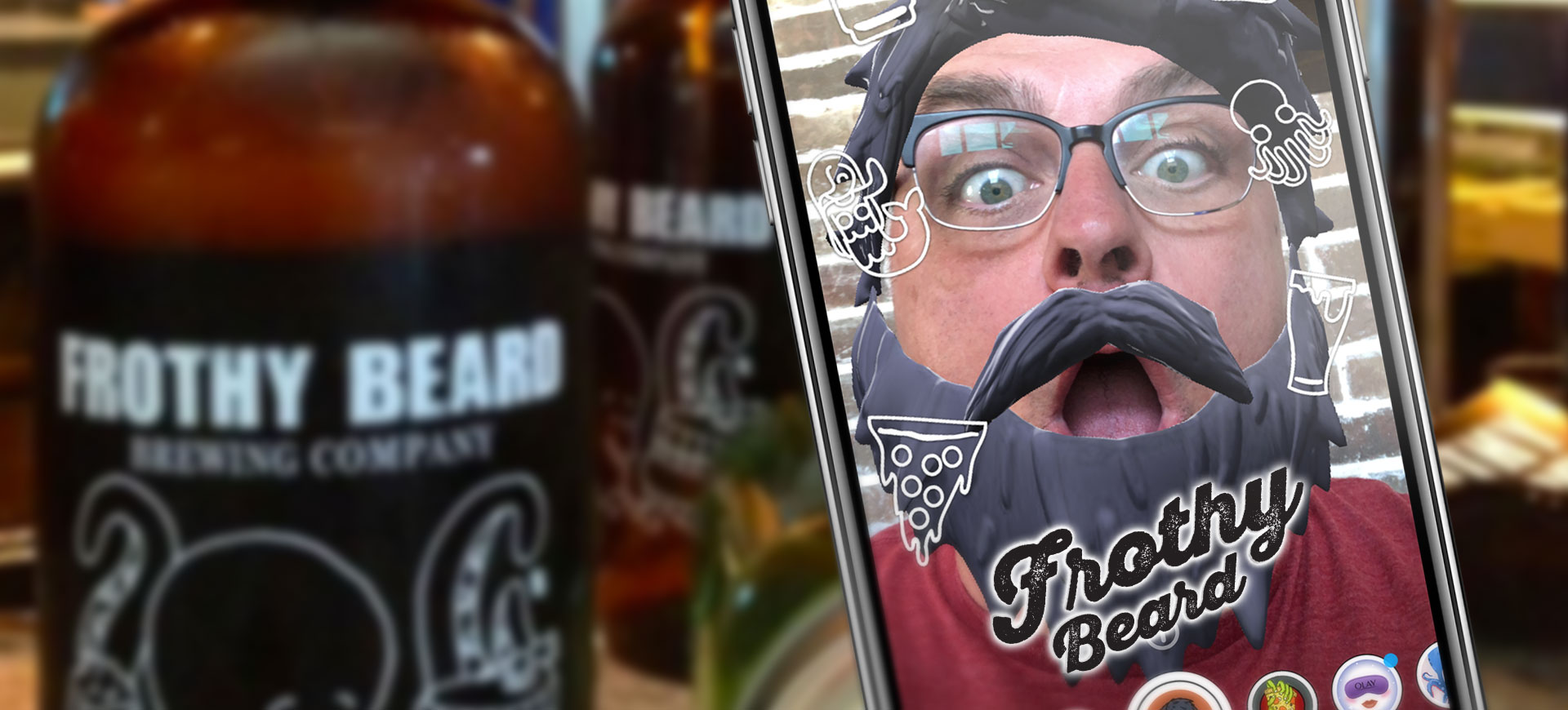 Frothy Beard AR Snapchat and Facebook Filter