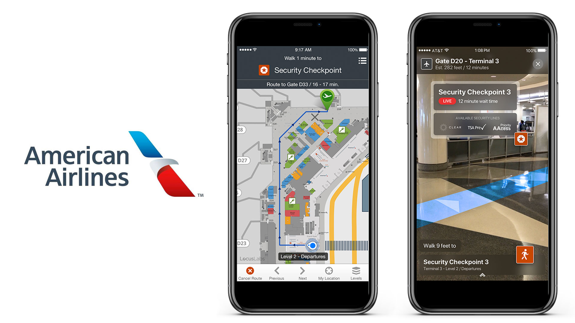 American Airlines Digital Wayfinding AR