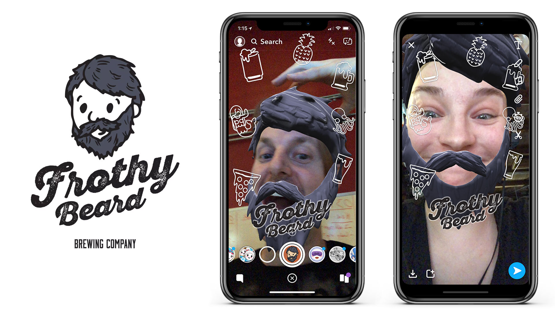 Frothy Beard Brewing Company Beer AR Augmented Reality