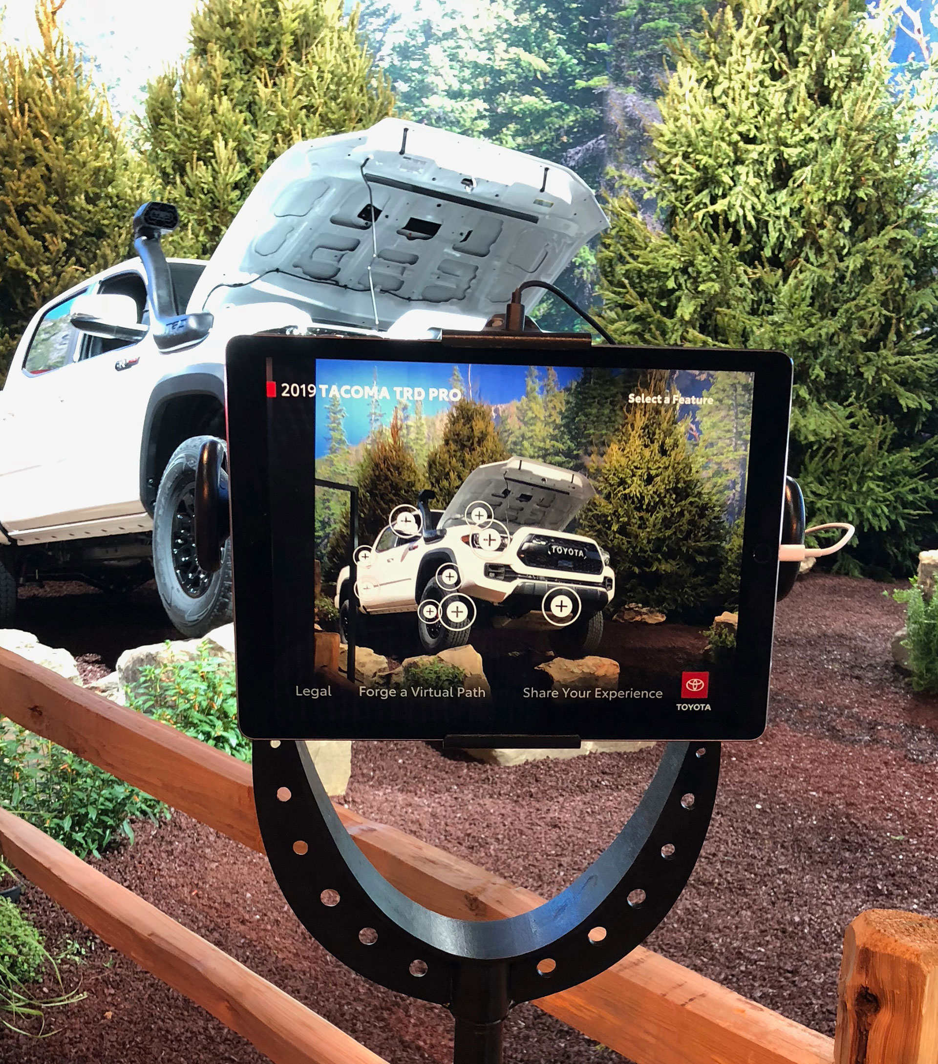 Toyota Trd Pro Augmented Reality Experience Debuts At Auto Shows Kes Diagram Ar