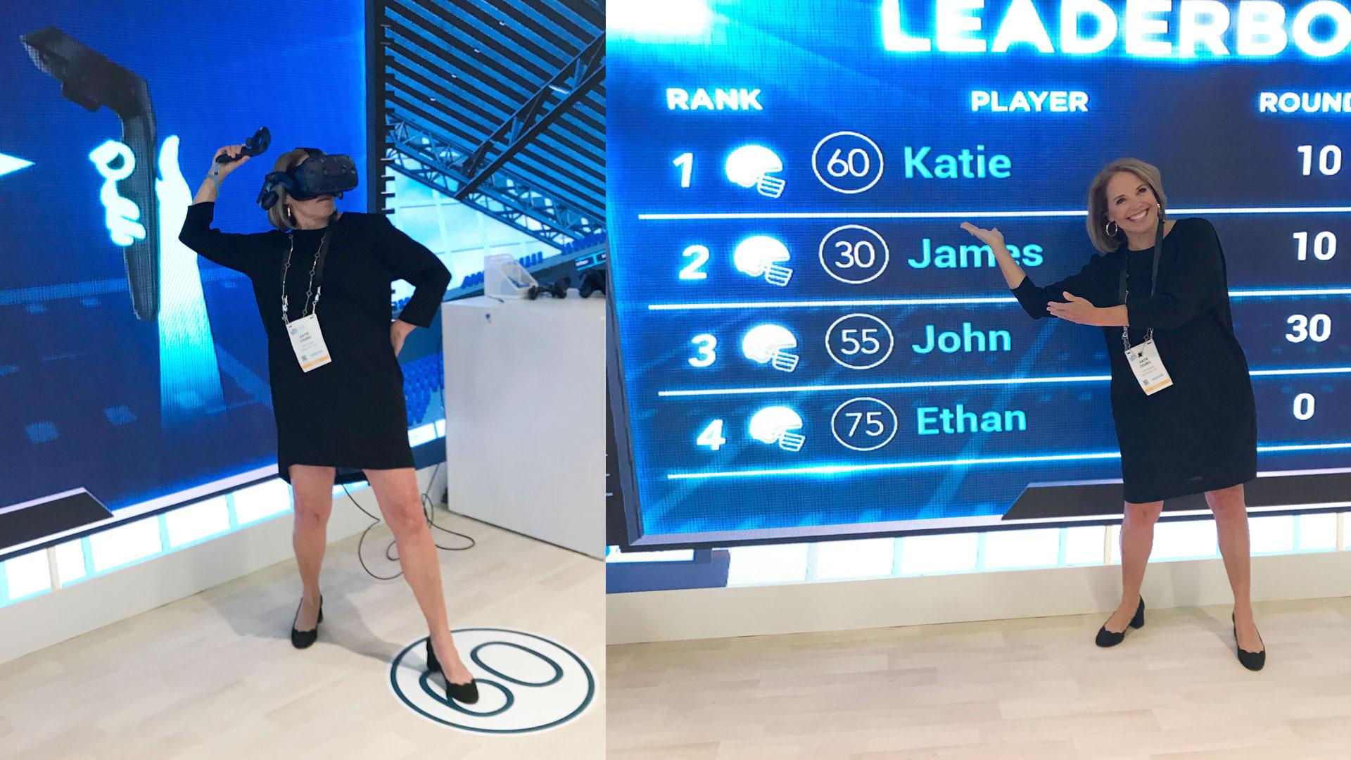 VR scoreboard leaderboard