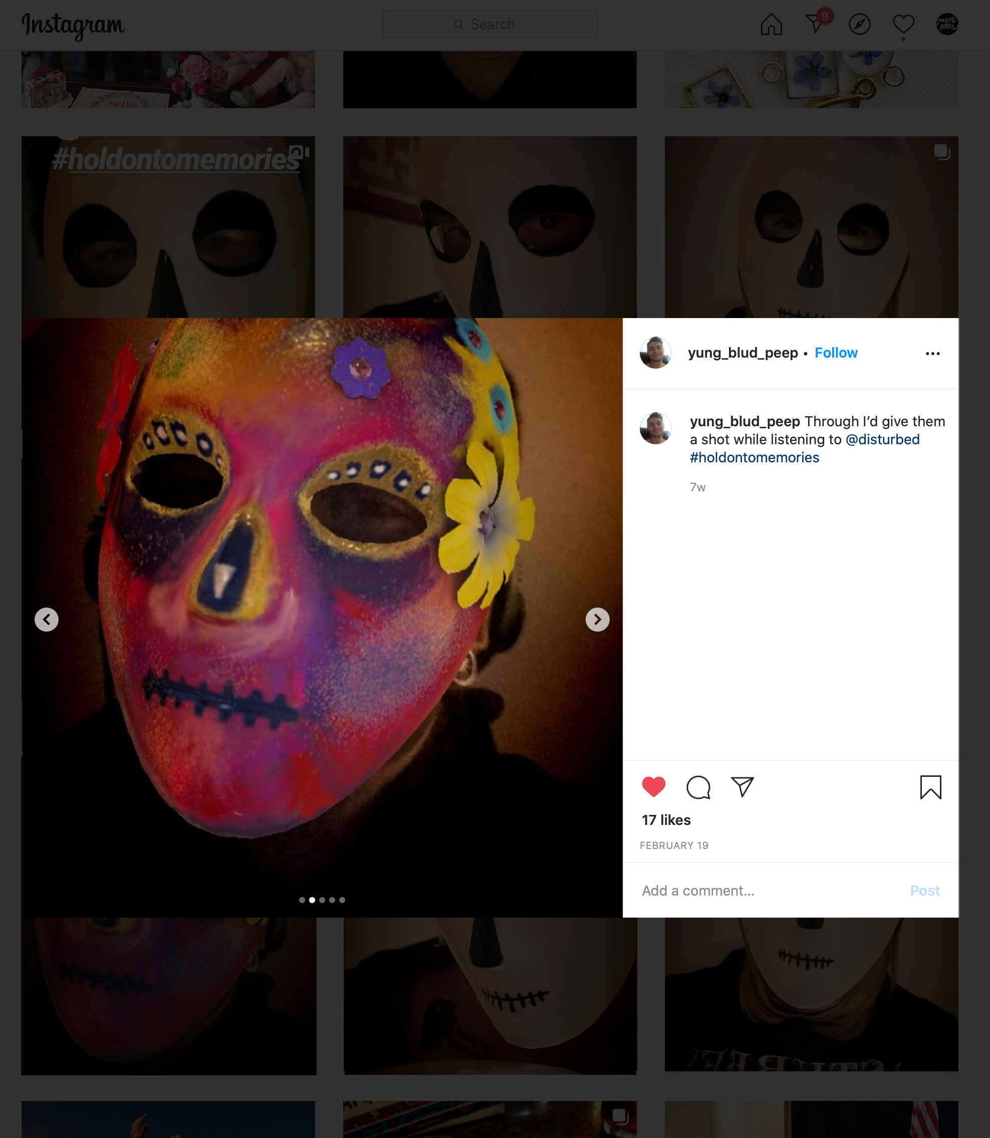 disturbed instagram